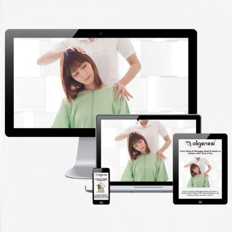 Video Corso Online di Massaggio Nuad da Seduto su Schiena Collo Testa e Viso
