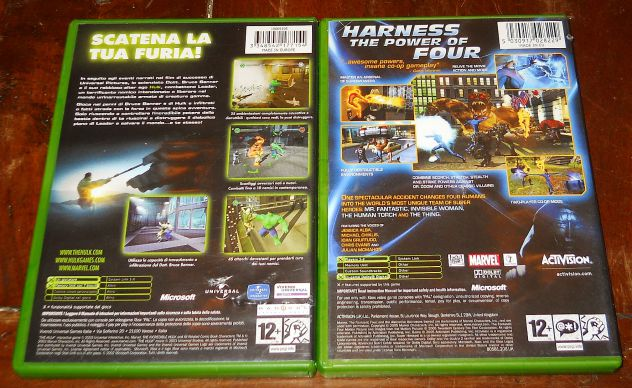 set lotto 4 giochi microsoft xbox sudeki fable hulk fantastic four PAL - Foto 2