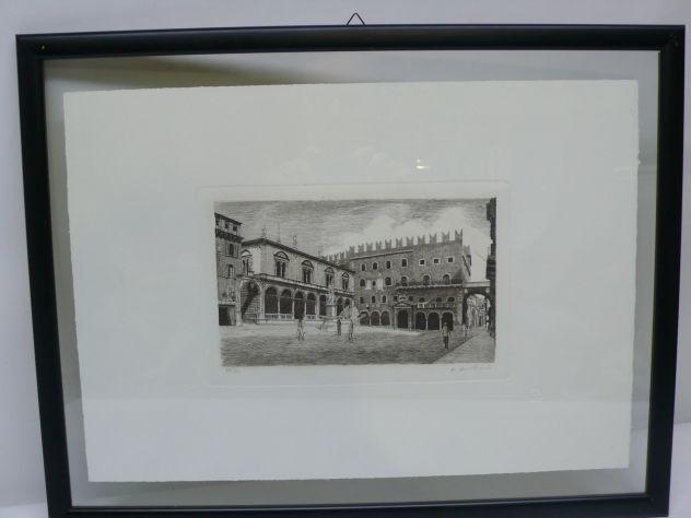 Acqueforti Verona Piazza dei Signori Stampe d'Arte L'Ippogrifo
