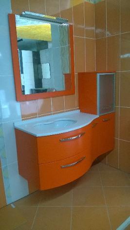 Mobile Da Bagno Moderno Arancione Sospeso Con Marm Annunci Crotone