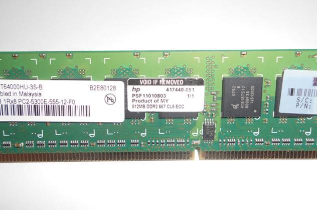 MEMORIA RAM Qimonda-Infineon 512MB DDR2-667mhz Euro 6