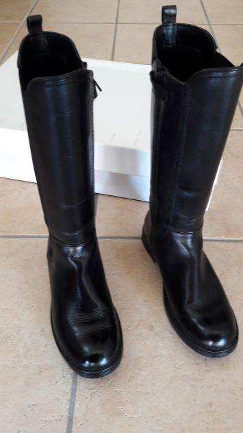 Stivali in vera pelle nera GEOX