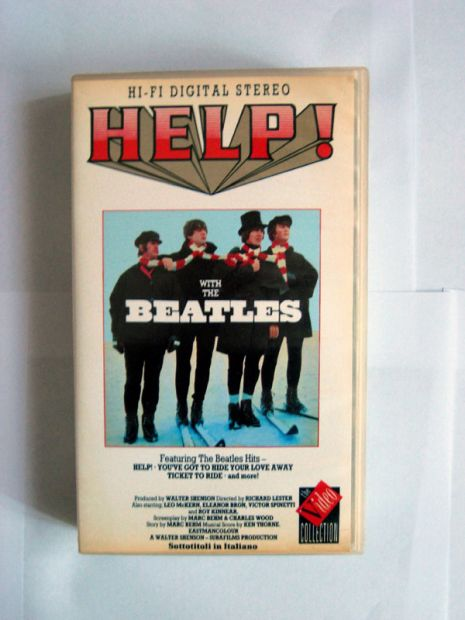 Originale videocassetta VHS WHIT THE BEATLES HELP!