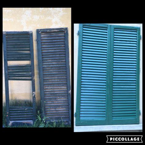 Verniciatura restauro infissi finestre scuri legno ferro - Annunci ...