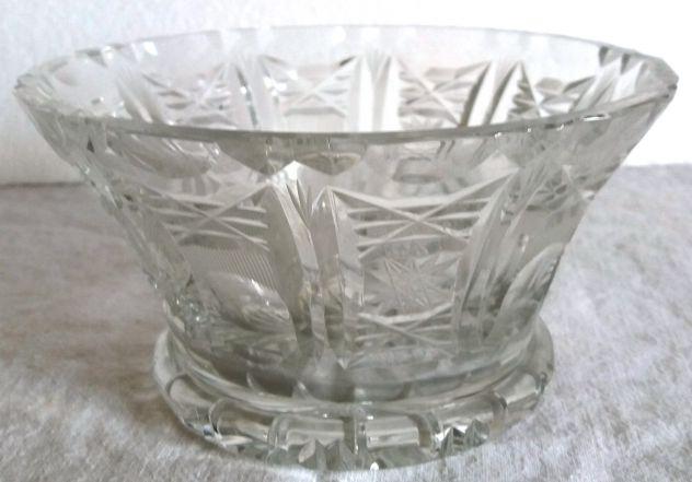 Ciotola Centro tavola-cristallo Boemia-1950 ca-