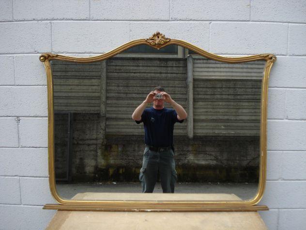 Specchio con Cornice in Legno Vintage