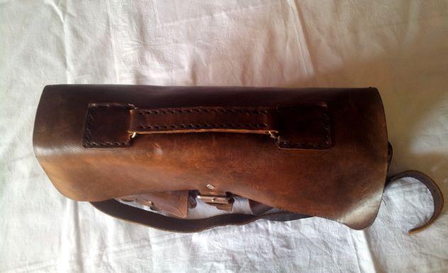 Borsa lavoro/portadocumenti in pelle antichizzata (Unisex) - Foto 8