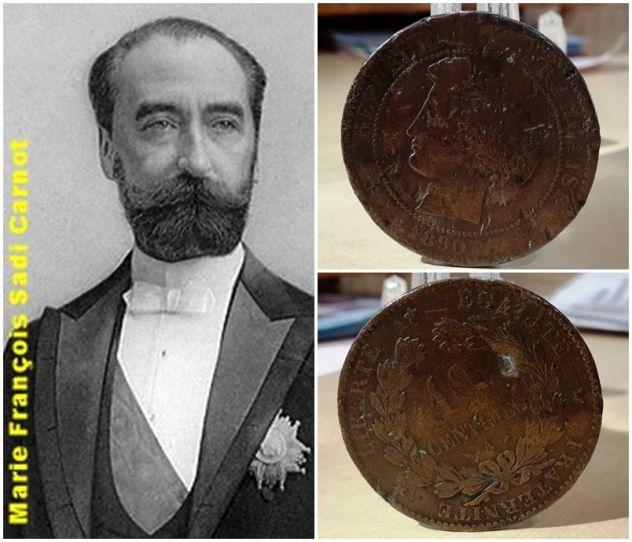Francia, 10 centimes 1890.