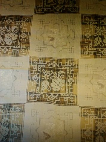 Biancheria in lino antica - Tovaglia da 12