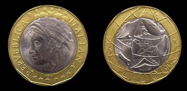 24 monere da 1000 lire Italia Turrita 1997