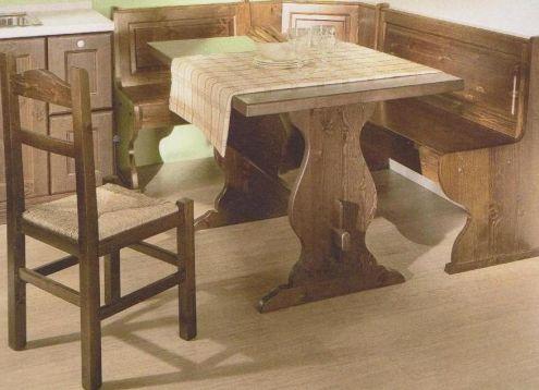 Mobili Rustici in legno massello a prezzo di fabbrica: Tavolo Panca Sedia p …