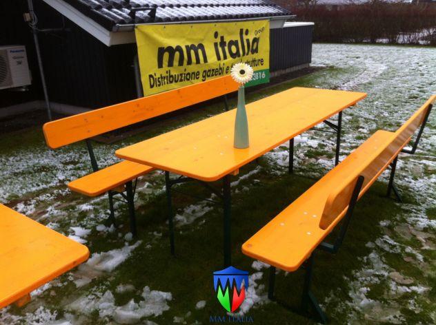 100 set panche e tavoli pieghevoli professionali per sagre noleggio - Foto 2