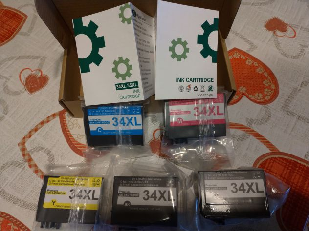 Cartucce per Epson 34/34XL-Workforce Pro WF-3720DWF-WF-3725DWF