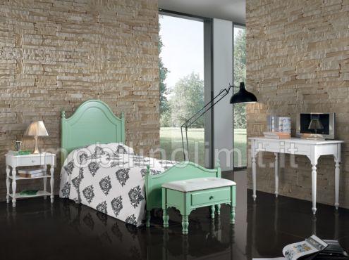 Camera da letto grezza arte povera con letto una piazza - Nuovo