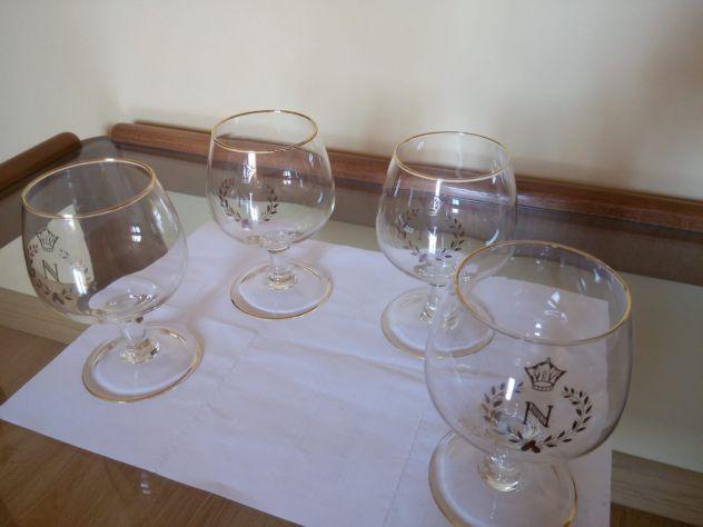 Set bicchieri Napoleon bordo oro liquore cognac