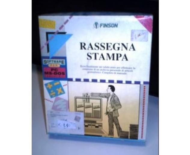 software DOS RASSEGNA STAMPA per retrocomputer Nuovo Euro 6