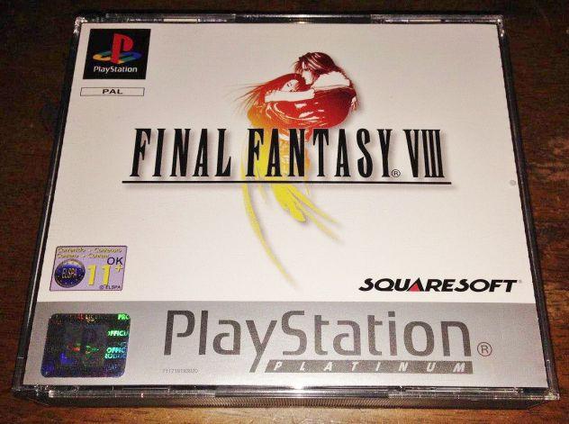 Gioco ps1 psx playstation final fantasy VIII 8 COMPLETO squaresoft rpg gdr