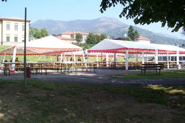 Noleggi in Nord Italia Tendoni Gazebo 4 x 8 pvc ignifugo - Foto 2