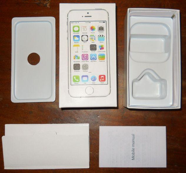 Apple iPhone 5 S 8 GB gold/silver scatola vuota e manuale d'uso