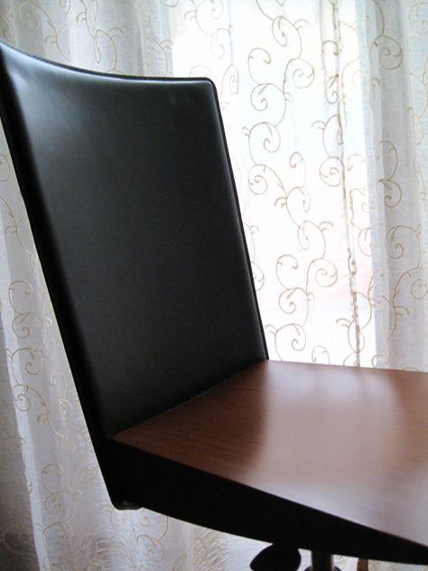 Sedia in legno e pelle - Foto 6