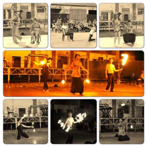 trampolieri giocolieri spettacolo fuoco artisti da strada sputafuoco - Foto 4