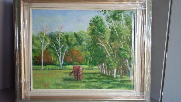 Due quadri olio su tela