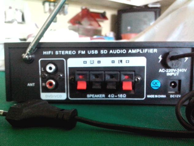 Karaoke stereo hi-fi amplificatore bluethooth multiuso 50 watt - Foto 4