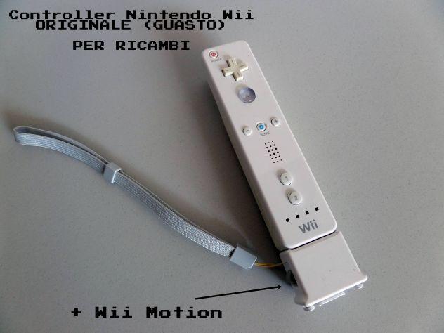 Controller Nintendo WII ORIGINALE + Motion (GUASTO) per ricambi