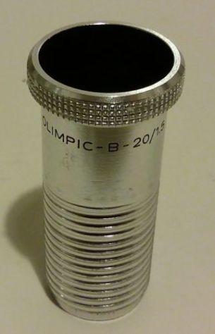 Obiettivo da proiettore Olimpic-B-20/1.5 in alluminio Made in Germany nuovo