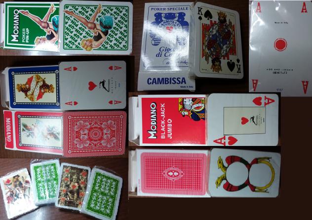 Carte da Gioco (7+4 mazzi) NUOVE - SIGILLATE