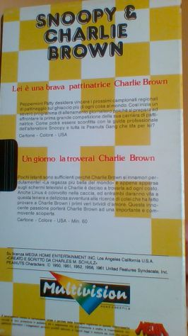 1 vhs originale Snoopy & Charlie Brown Multivision - Foto 2