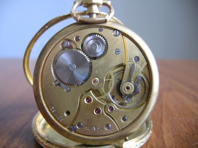 Orologio da Tasca Taschino Cipolla ZENITH Oro 18 K - Primi '900 - Foto 8