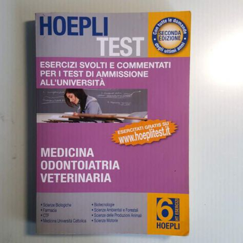 Hoepli Test Medicina Odontoiatria Veterinaria - Foto 3
