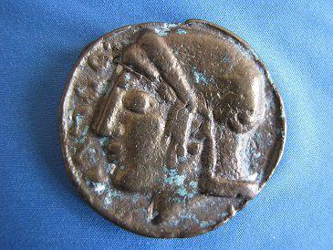 Antico medaglione in bronzo fuso
