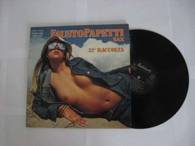 Vinile 33 giri originale del 1976-FAUSTO PAPETTI SAX -22a RACCOLTA
