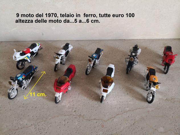 Moto da collezione del 1970 e piu' recenti