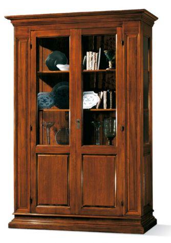 Vetrinetta 2 porte 2 ripiani stile arte povera cod 11409