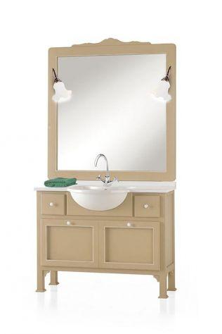 Mobile bagno con marmo e specchiera moderno laccato cod 7303