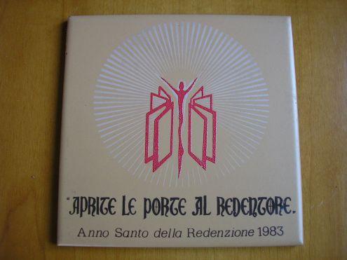 Mattonella commemorativa anno santo 1983