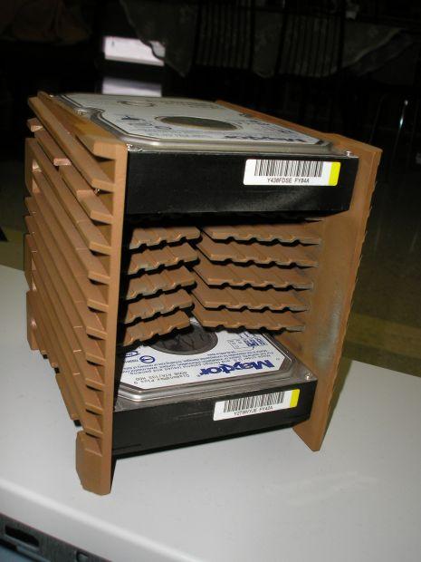 Supporto per 2 HDisk di raffreddamento in rame arigianale - Foto 2