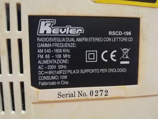RadioSveglia Dual AM/FM Stereo con lettore CD. - Foto 5