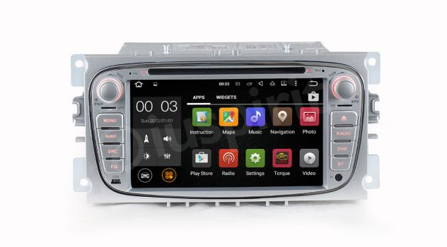 ANDROID DVD autoradio 2 DIN navigatore Ford Focus Mondeo C-Max S-Max - Foto 4