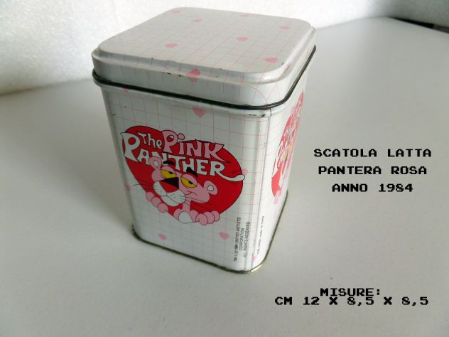 Scatola in latta Pantera Rosa (The Pink Panther) Anno 1984 ORIGINALE