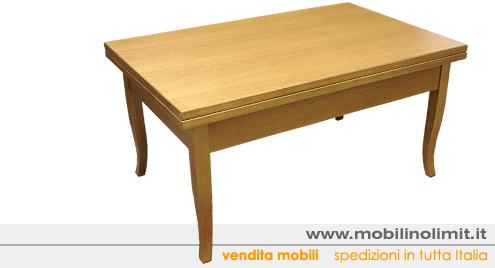 Tavolino Trasformabile salvaspazio rovere (nuovo) - Foto 2