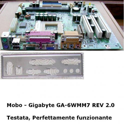 GIGABYTE GA-6WMM7 (rev. 2.0) Scheda madre Motherboard TESTATA PERFETTAMENTE … - Foto 2
