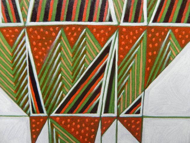 Dipinto ad olio su carta, astratto - Foto 8