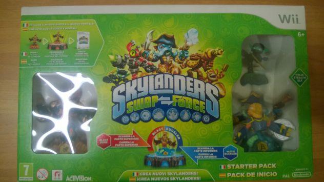 Gioco Wii Skylanders Swap-Force completo + 2 personaggi extra