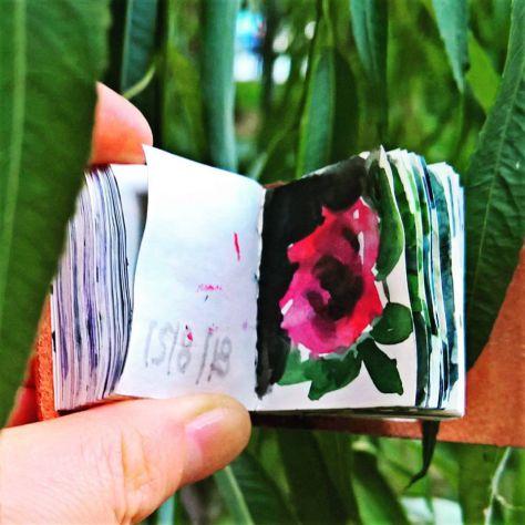 150 disegni dipinti di fiori e piante Toscana album copertina vera pelle