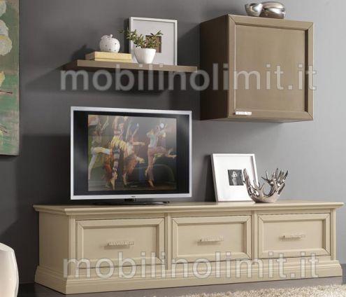 Porta TV - 3 Cassettoni - Nuovo
