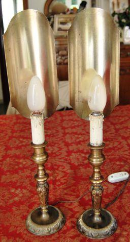 Candelieri in ottone vintage modello  nautico